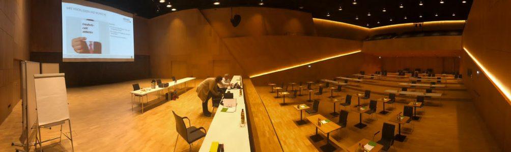 Vorbereitung Workshop in der Tauberphilharmonie Weikersheim