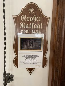 Großer Ratsaal Überlingen aus dem Jahr 1494